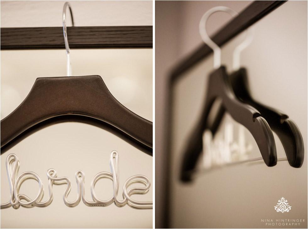 Wedding Inspirations | Personalized Wedding Hanger for your Wedding Dress - Blog of Nina Hintringer Photography - Wedding Photography, Wedding Reportage and Destination Weddings