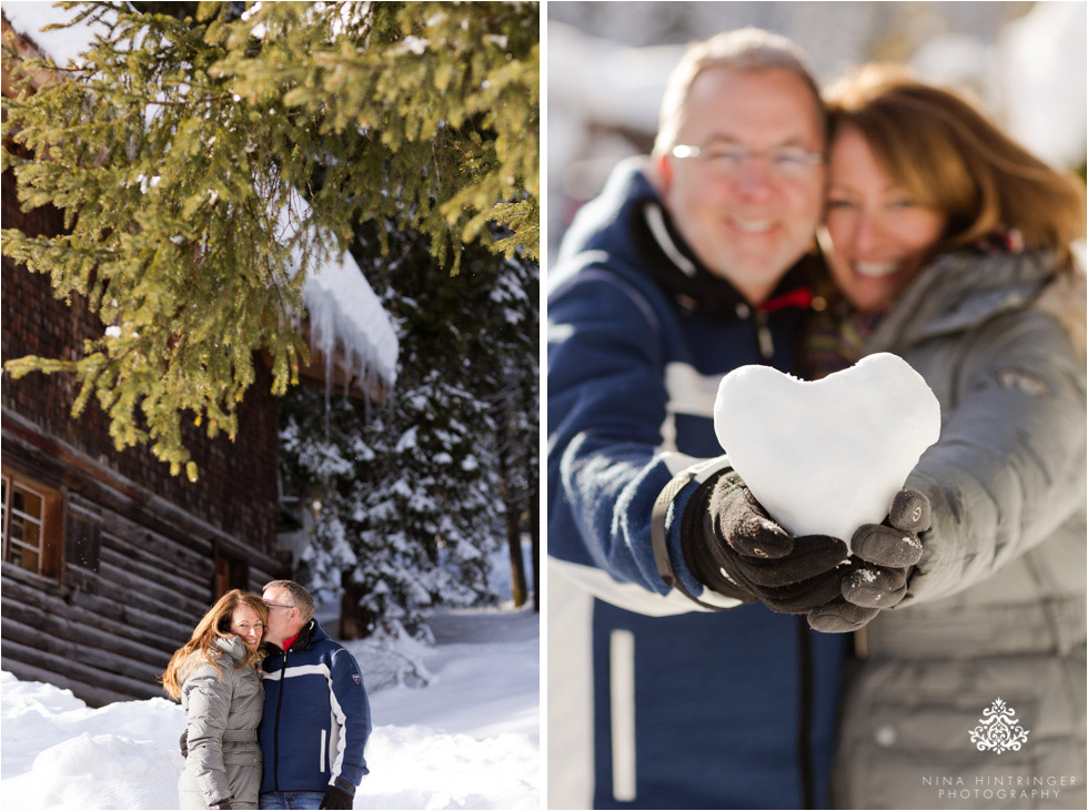 snow heart makes a perfect prop for a winter engagement shoot in st. anton at the arlberg - Blog of Nina Hintringer Photography - Wedding Photography, Wedding Reportage and Destination Weddings