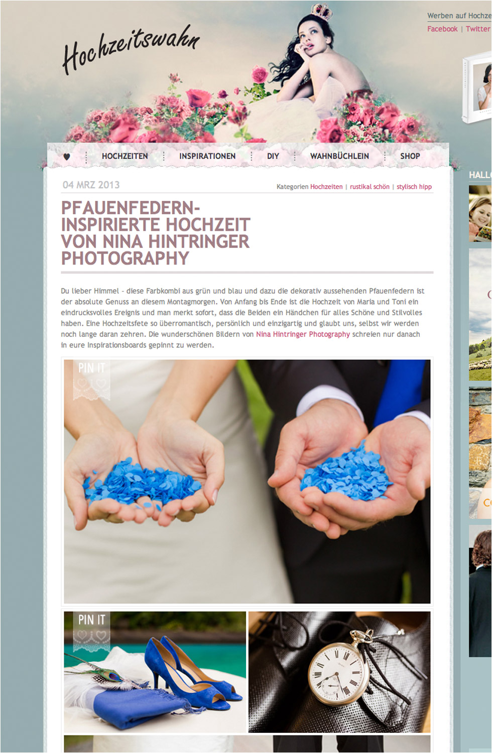 Published on Hochzeitswahn - Blog of Nina Hintringer Photography - Wedding Photography, Wedding Reportage and Destination Weddings