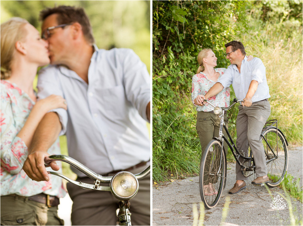 Engagement shoot with a vintage bike at sunset | Saskia & Christian - Blog of Nina Hintringer Photography - Wedding Photography, Wedding Reportage and Destination Weddings