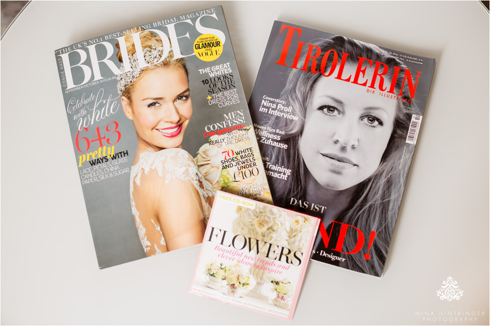 Publications: BRIDES Magazine UK & TIROLERIN - Blog of Nina Hintringer Photography - Wedding Photography, Wedding Reportage and Destination Weddings