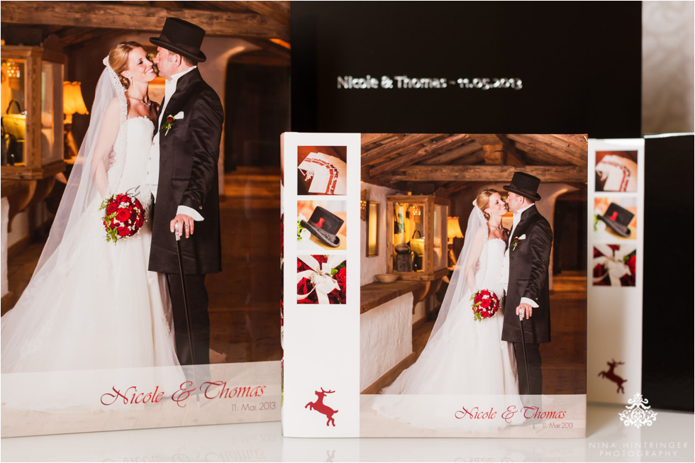 Premium book edition with a beautiful slide-in case, available in black or red with a glossy or matte finish and a silver or gold hot stamping text - Blog of Nina Hintringer Photography - Wedding Photography, Wedding Reportage and Destination Weddings