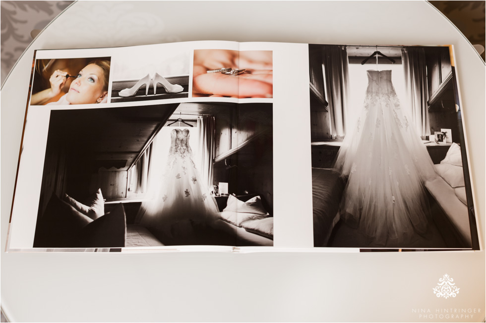 The lay-flat binding displays your images with no gutter loss, the pages lay completely flat. - Blog of Nina Hintringer Photography - Wedding Photography, Wedding Reportage and Destination Weddings
