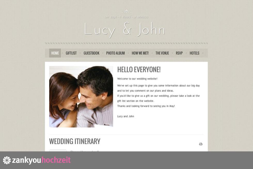 Win 5 Free Customized Premium Zankyou Wedding Websites Value Euro 99 Each