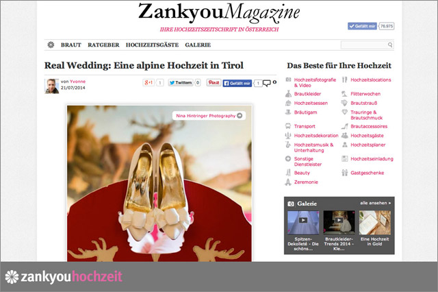 Published Online | Zankyou Magazine | Real Wedding - Blog of Nina Hintringer Photography - Wedding Photography, Wedding Reportage and Destination Weddings