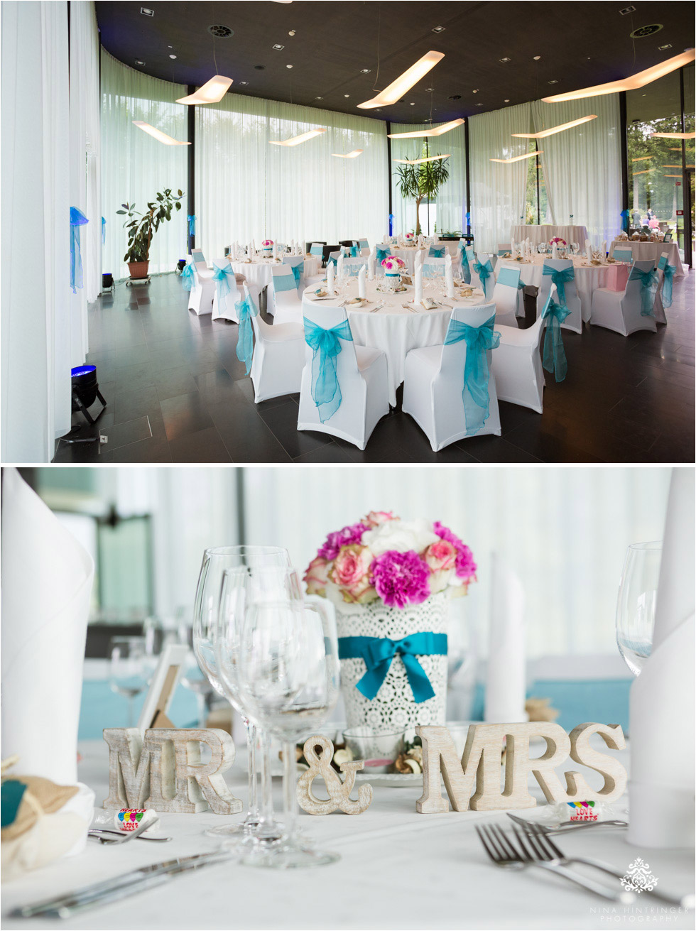 Ski-Inspired Summer Wedding | Cat & Menno and their Tiffany Blue ...