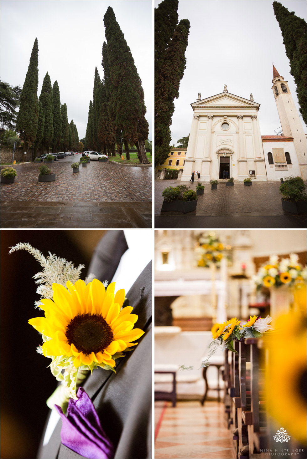 Church and floral arrangements at SS. Trinita in Bassano, the church where several family members have also gotten married  - Blog of Nina Hintringer Photography - Wedding Photography, Wedding Reportage and Destination Weddings