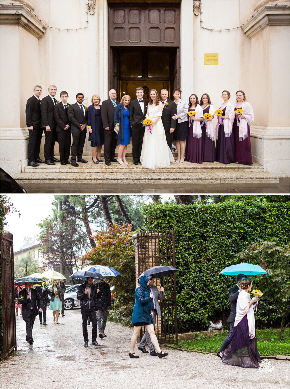 Wedding party at church and arriving at the venue Villa Damiani, a 400+ year old home in the country side of Bassano del Grappa, Italy - Blog of Nina Hintringer Photography - Wedding Photography, Wedding Reportage and Destination Weddings