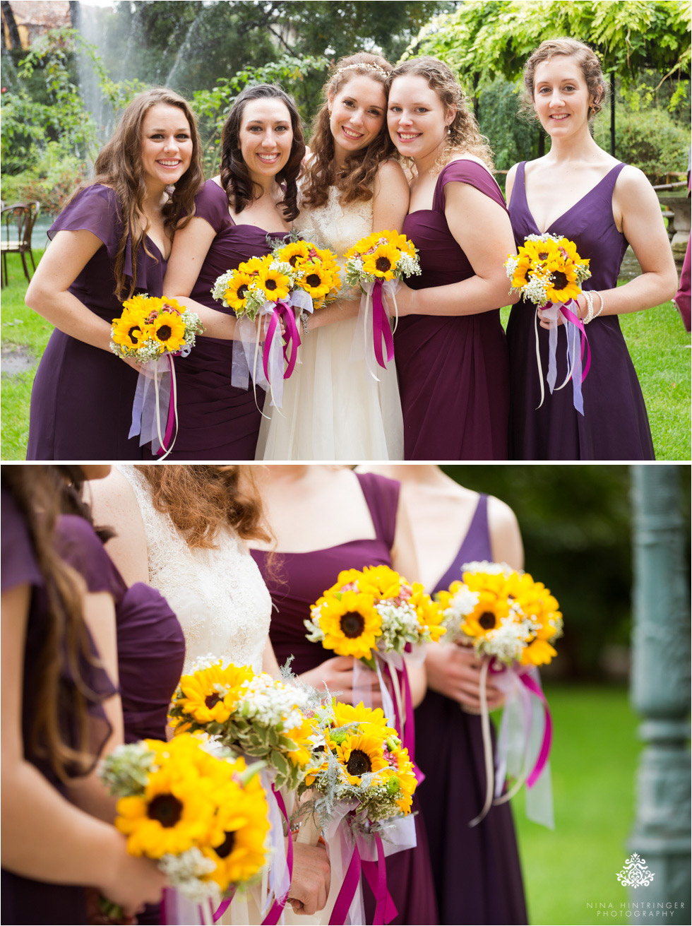 Bridesmaids at Villa Damiani in Bassano del Grappa, Italy - Blog of Nina Hintringer Photography - Wedding Photography, Wedding Reportage and Destination Weddings