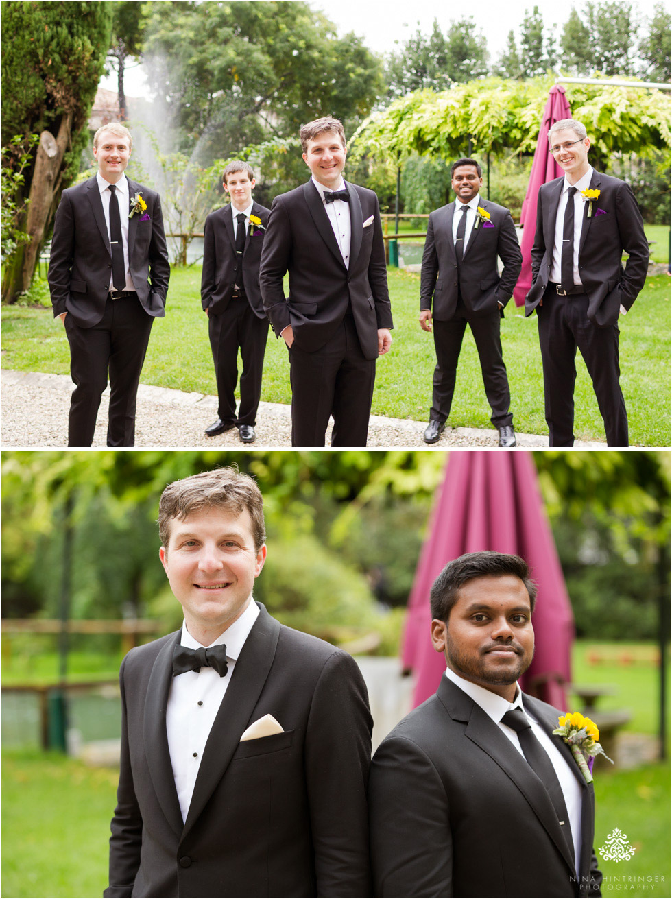 Groomsmen at Villa Damiani in Bassano del Grappa, Italy - Blog of Nina Hintringer Photography - Wedding Photography, Wedding Reportage and Destination Weddings