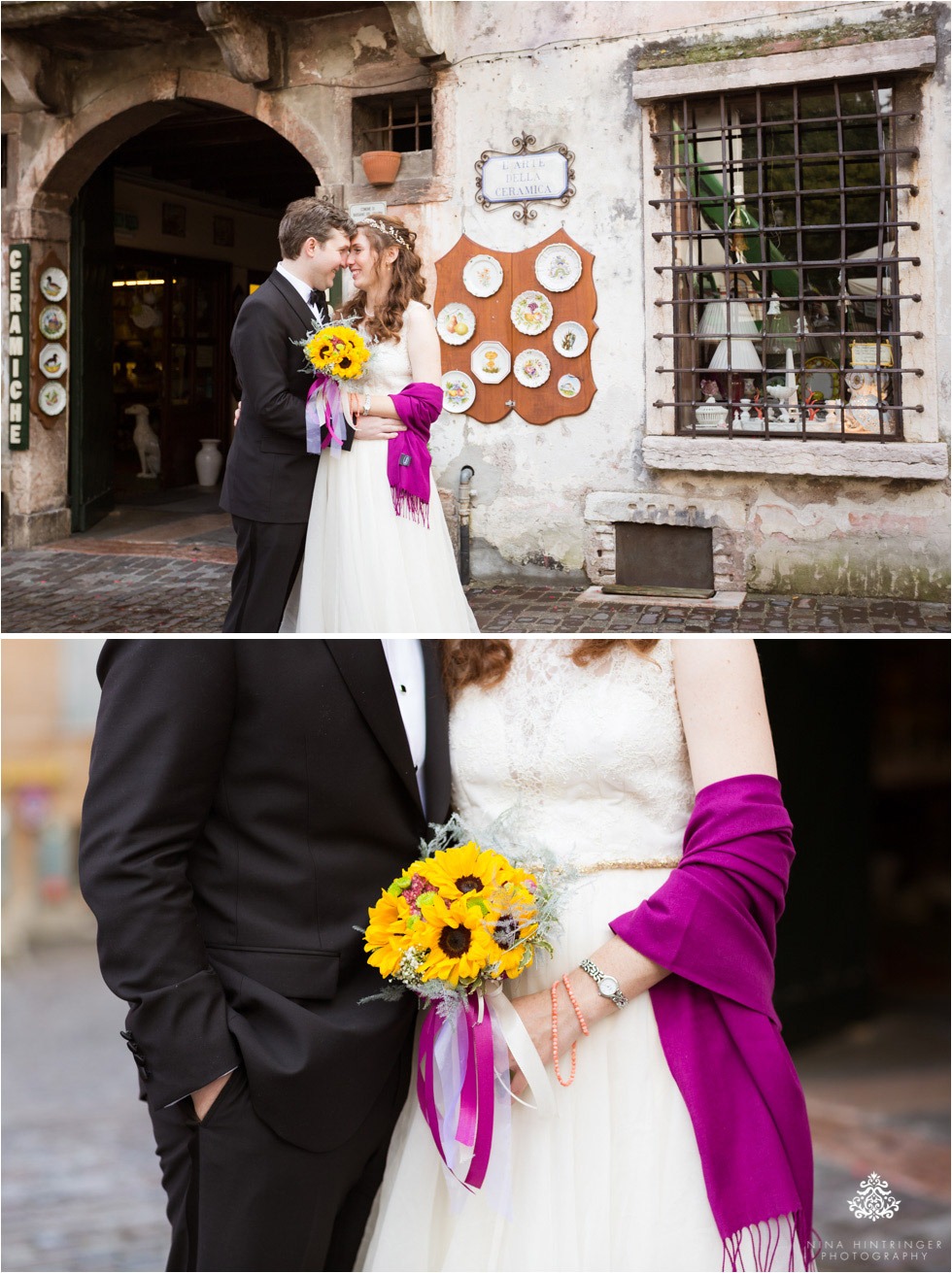 Bridal portraits in the city of Bassano del Grappa, Italy - Blog of Nina Hintringer Photography - Wedding Photography, Wedding Reportage and Destination Weddings