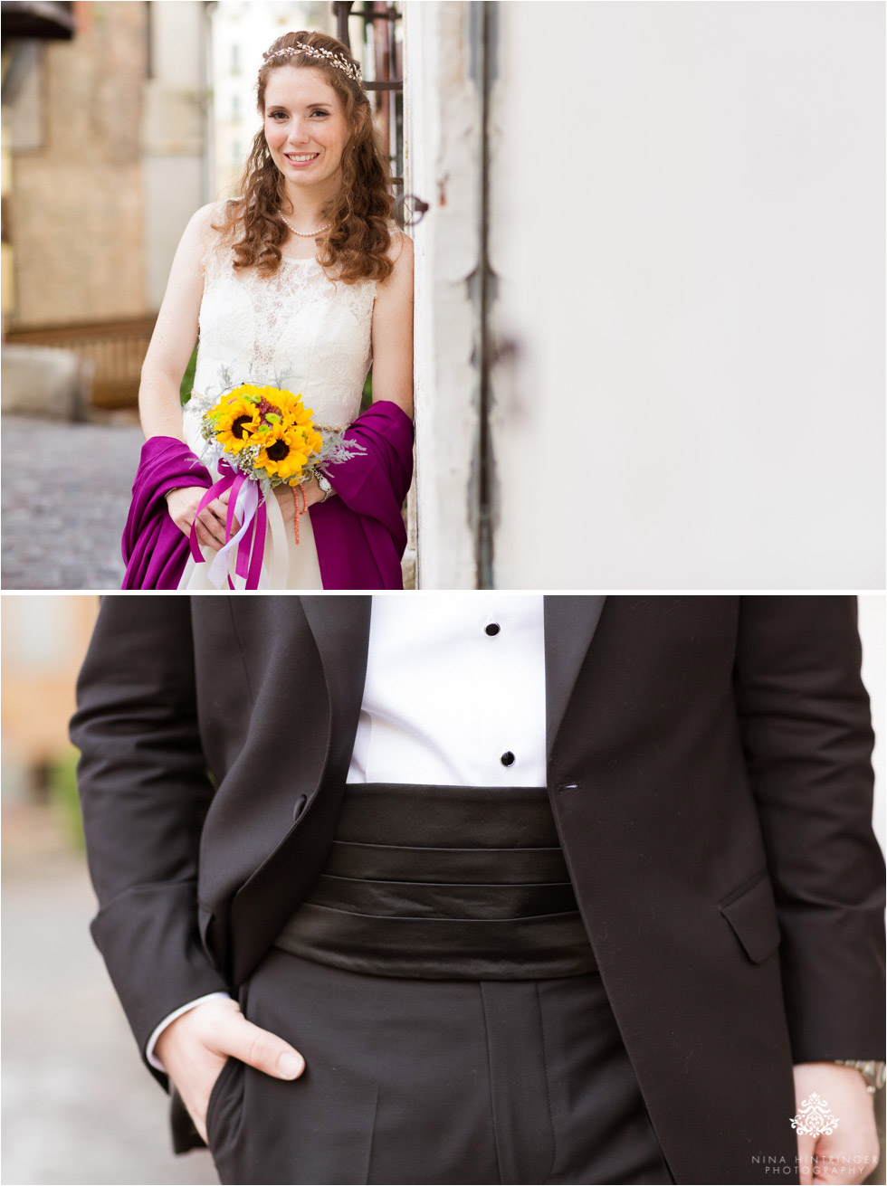 Detail shots of bride and groom during their bridal portraits in Bassano del Grappa - Blog of Nina Hintringer Photography - Wedding Photography, Wedding Reportage and Destination Weddings