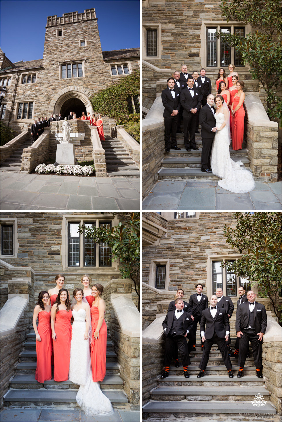 Bridal party at Saint Josephs University campus in Philadelphia, Pennsylvania - Blog of Nina Hintringer Photography - Wedding Photography, Wedding Reportage and Destination Weddings