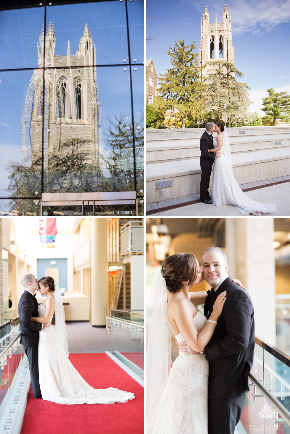 Bridal and groom at Saint Josephs University campus in Philadelphia, Pennsylvania - Blog of Nina Hintringer Photography - Wedding Photography, Wedding Reportage and Destination Weddings