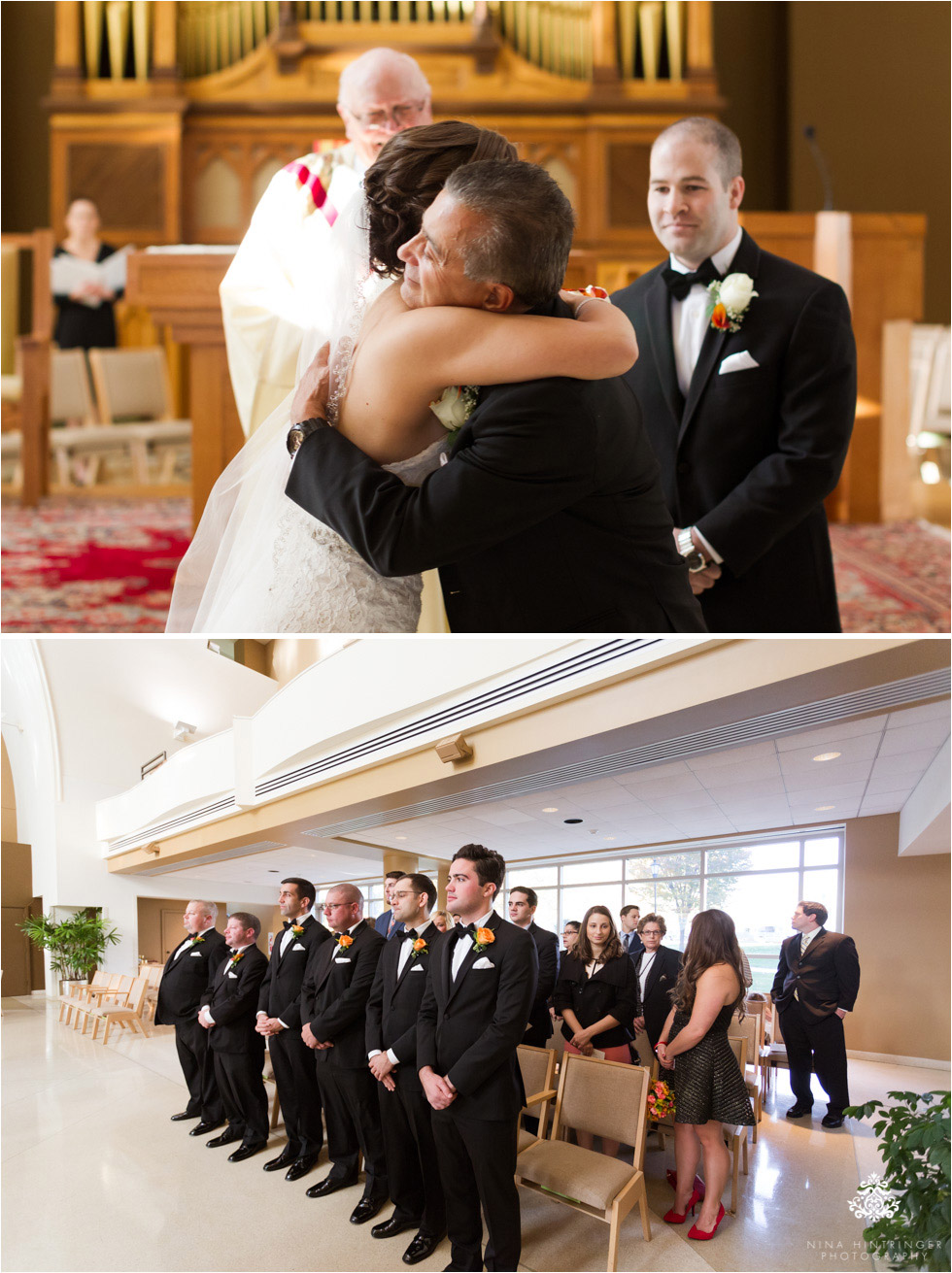 Wedding ceremony at Saint Josephs University campus in Philadelphia, Pennsylvania - Blog of Nina Hintringer Photography - Wedding Photography, Wedding Reportage and Destination Weddings
