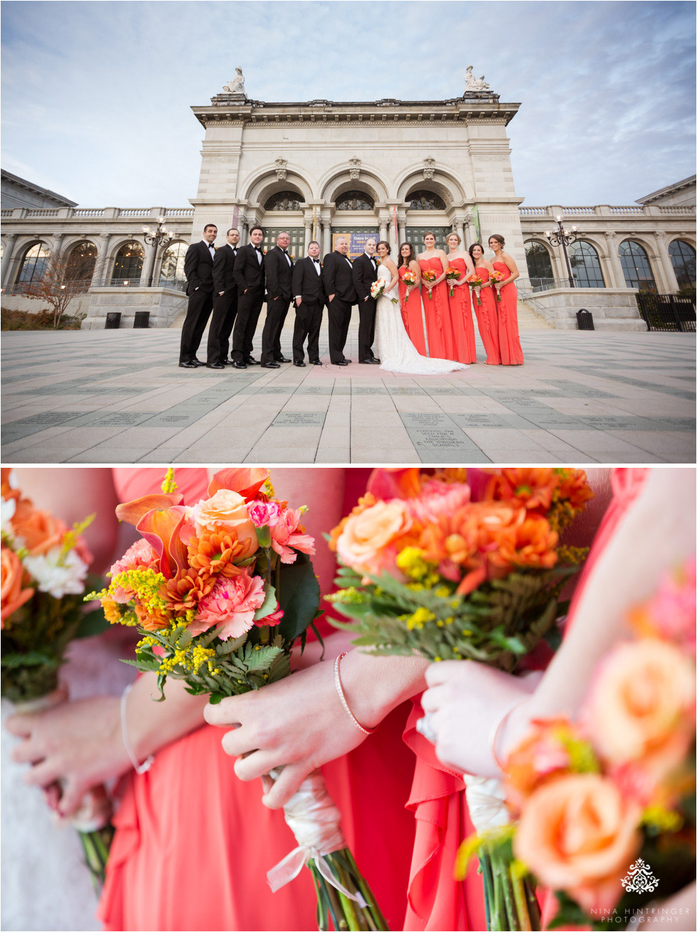 Bridal party at Please Touch Museum at Memorial Hall in Philadelphia, Pennsylvania - Blog of Nina Hintringer Photography - Wedding Photography, Wedding Reportage and Destination Weddings