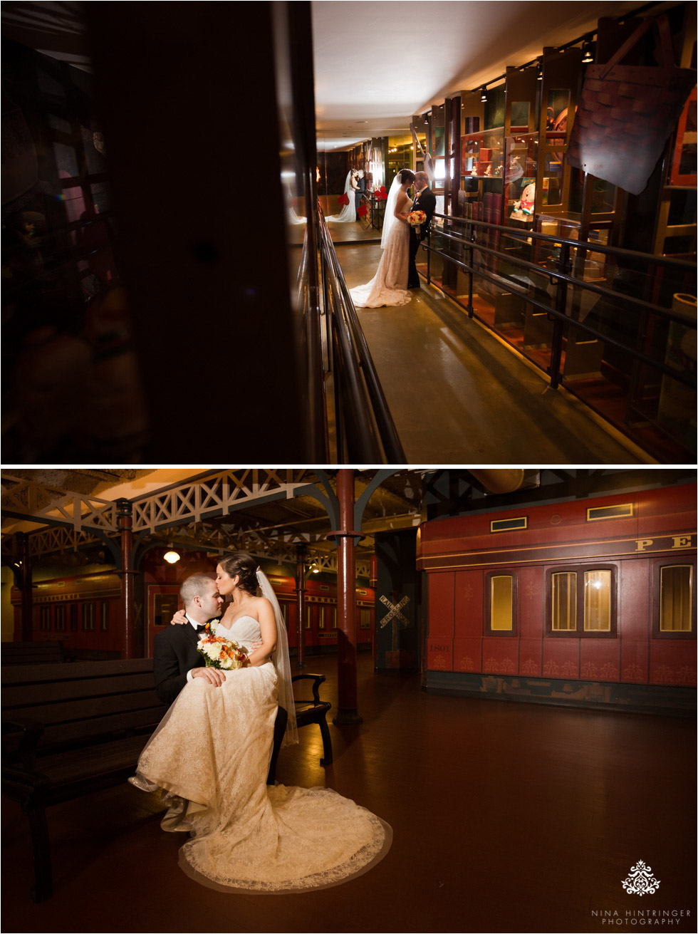Bride and groom at Please Touch Museum at Memorial Hall in Philadelphia, Pennsylvania - Blog of Nina Hintringer Photography - Wedding Photography, Wedding Reportage and Destination Weddings