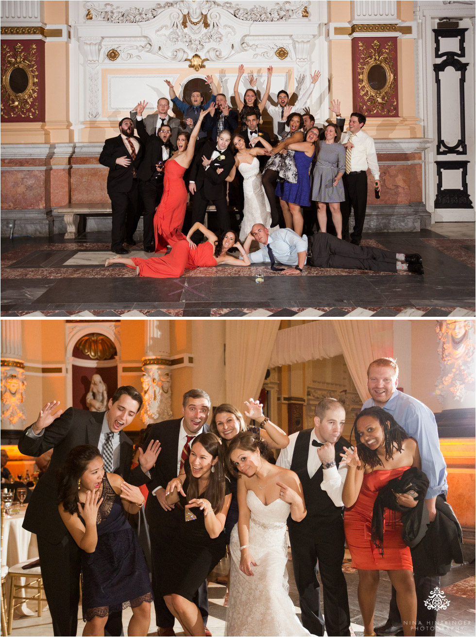 Fun group shots at Please Touch Museum in Hamilton hall in Philadelphia, Pennsylvania - Blog of Nina Hintringer Photography - Wedding Photography, Wedding Reportage and Destination Weddings