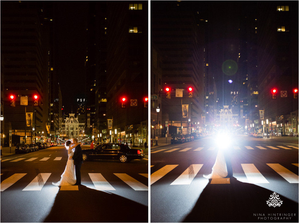 Night shots near City Hall in Philadelphia, Pennsylvania - Blog of Nina Hintringer Photography - Wedding Photography, Wedding Reportage and Destination Weddings