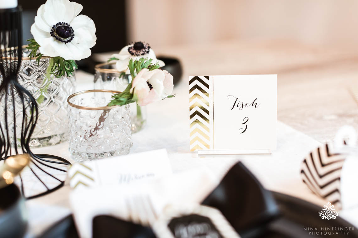 Trendy Black, White and Gold Wedding Stationery, Wedding Cake and ...
