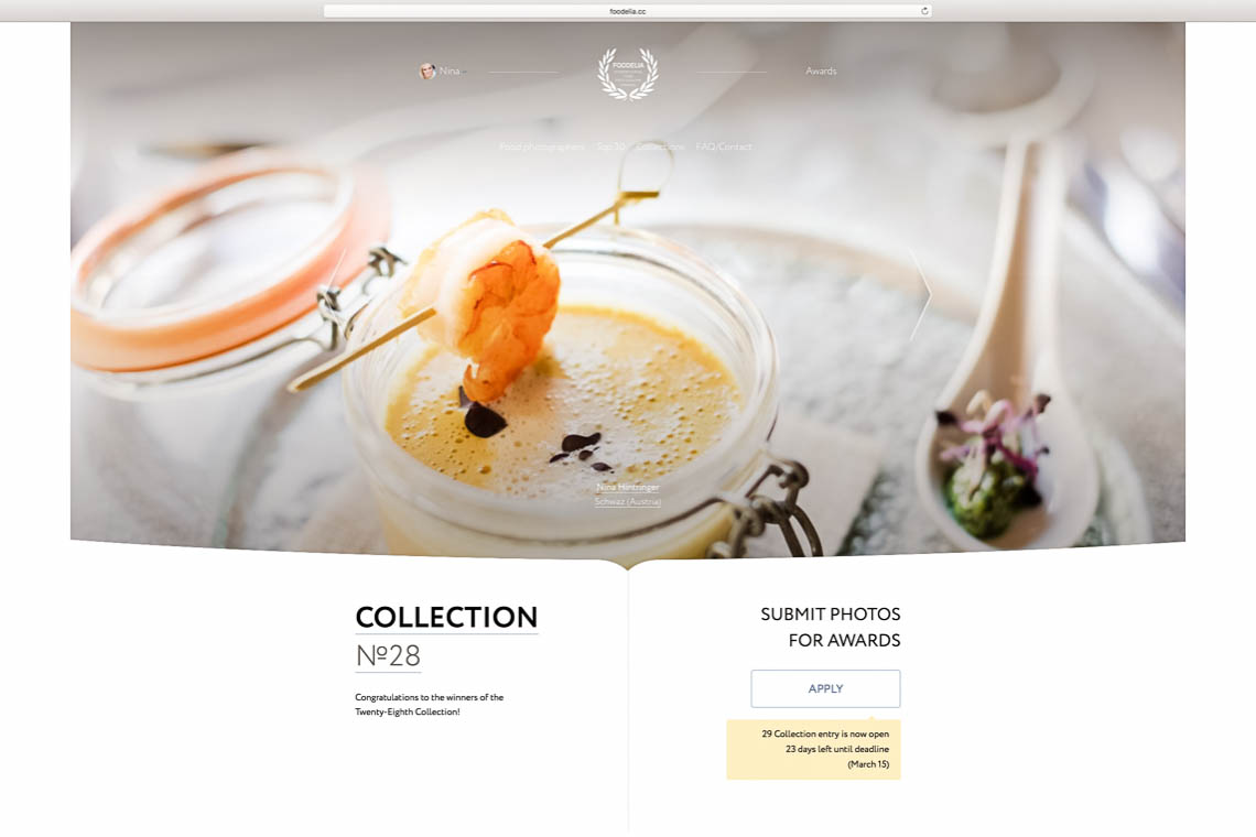We won 2 Food Photography Awards | 2018 starts great - Blog of Nina Hintringer Photography - Wedding Photography, Wedding Reportage and Destination Weddings
